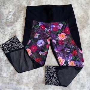 RBX floral mesh Capri like new legging SZ medium